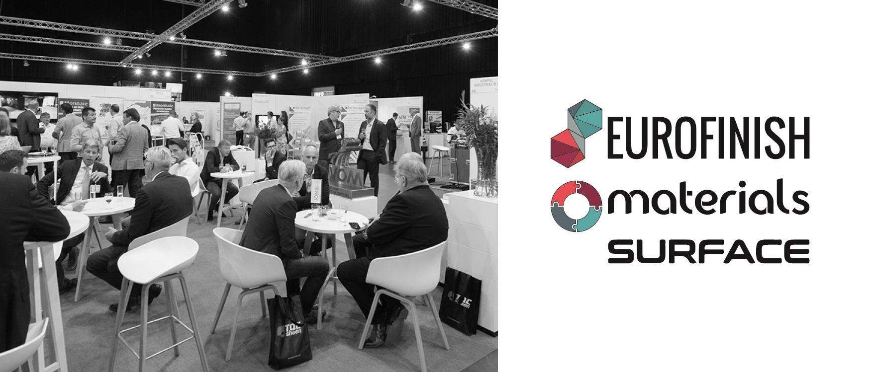 Header image for Luximprint blogpost about Materials Eurofinisch Surfaces Den Bosch 2021