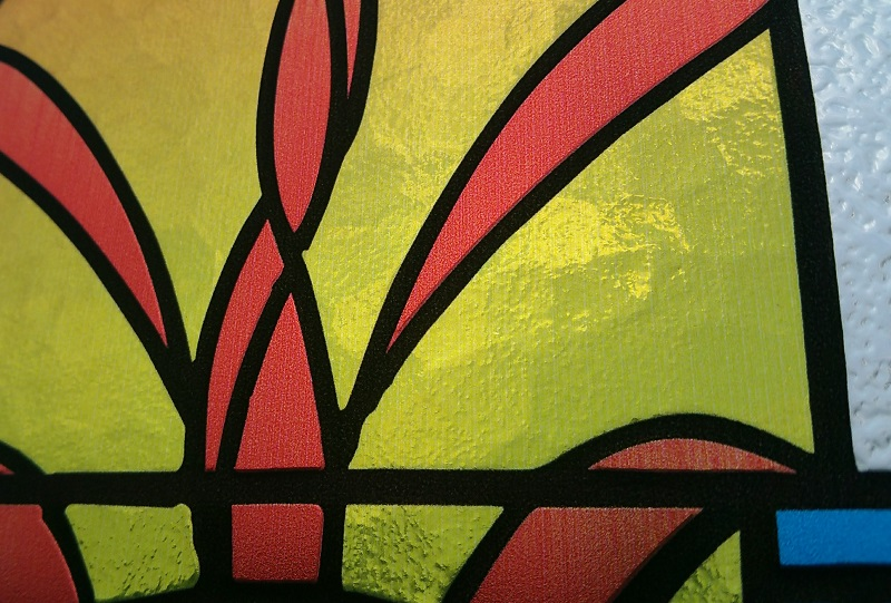 Picture of close-up photo of imprint_Optographix_Stained Glass Replicas_Church Window