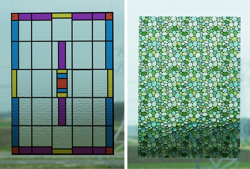 Picture of Luximprint_Optographix_Stained Glass Replicas including a traditional and pebble version