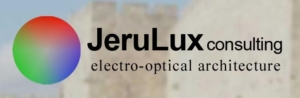 Logo of JeruLux consulting for Luximprint Optics Design Hub