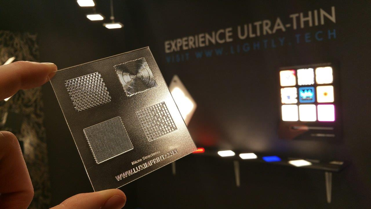 Image of Luximprint sample with micro structures to demonstrate 3D printing capabilities