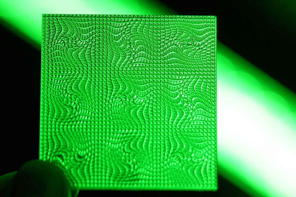 Image of green-colored optical texture by Luximprint