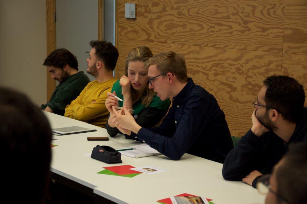 Image of Ghent University Master Students testing printed optics