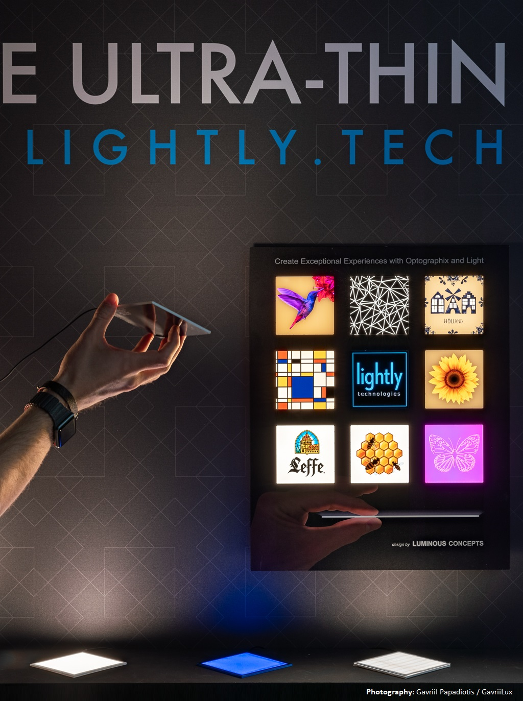 Image of Lightly Display by Luminous Concepts display and Luximprint. Photography: Gavriil Papadiotis / GavriiLux