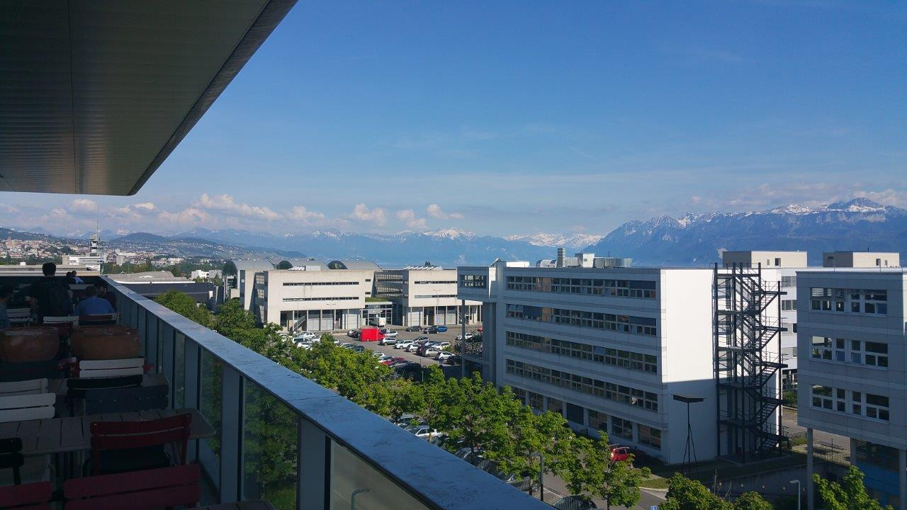 Image of panoramaview from balcony EPFL facilities