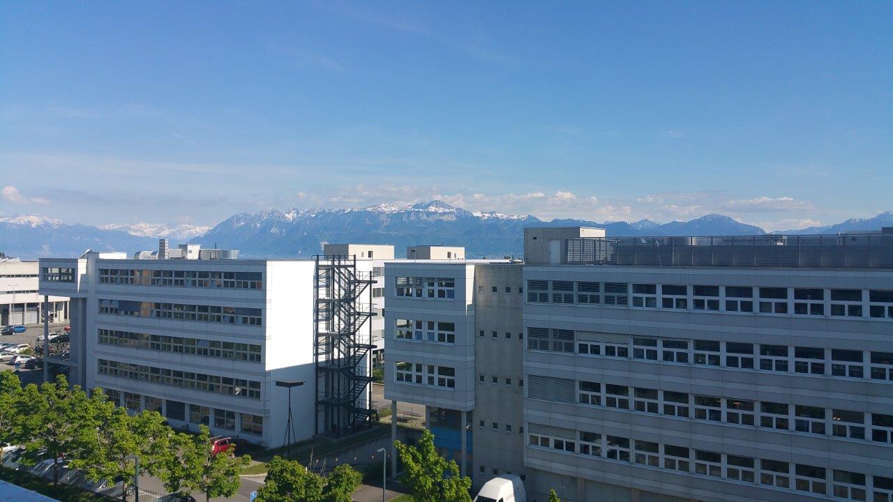 EPFL Campus in Lausanne, Switerzland, as seen from EPFL Building