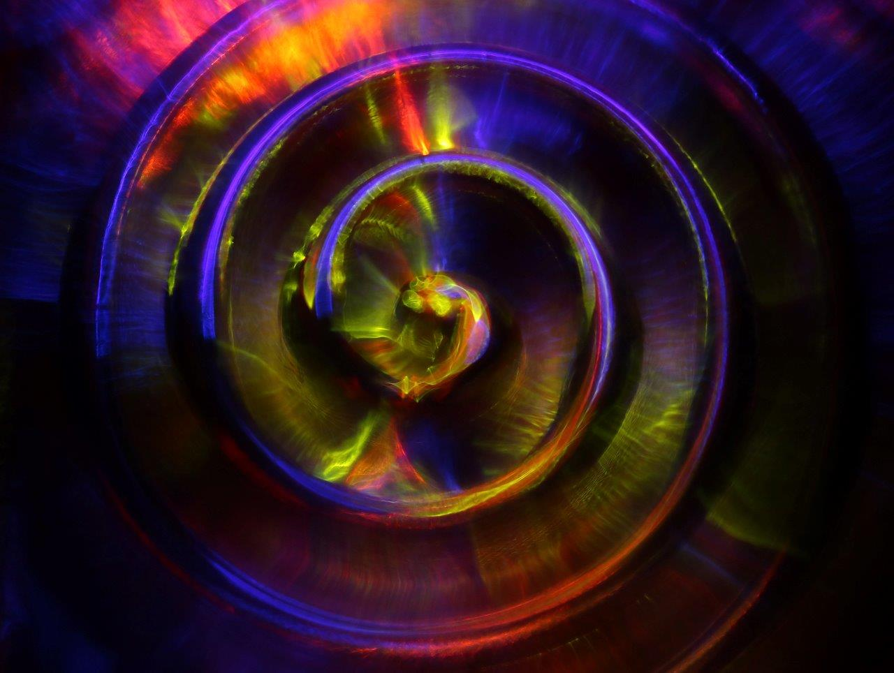 Image by MCarscience Photography for Luximprint showcase area 3d Printed Lens Art showing blurred fresnel lens core