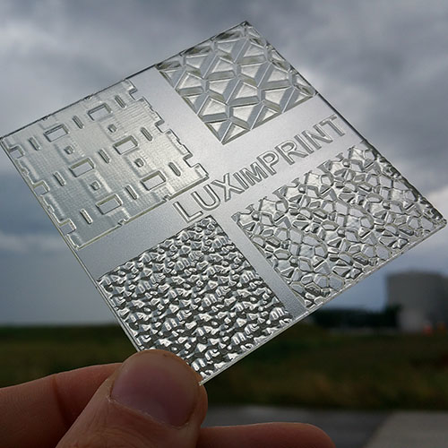 Image of 3D printed Optopatterns by Luximprint for the sample shop in outdoor environment