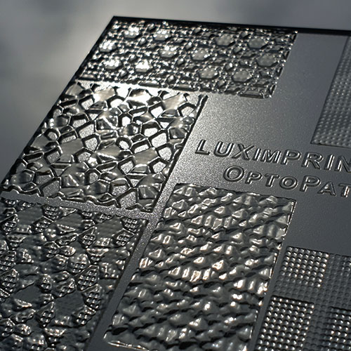 Close-up image of various OptoPatterns V3 textures by Luximprint