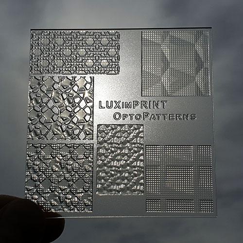 Image of handheld OptoPatterns V3 sample 3D printed by Luximprint
