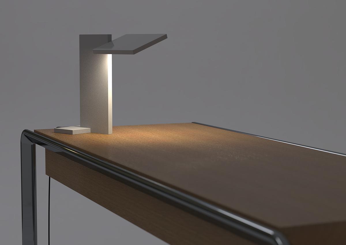 3D render of SDA Planar Task Light on desk for use in Luximprint Inspiration corner