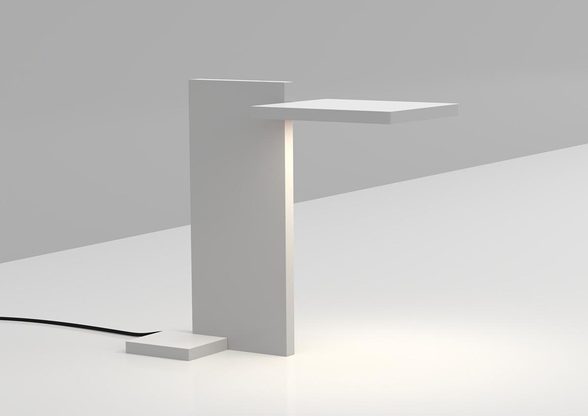 3D render of SDA Planar Task Light on clean working desk for use in Luximprint Inspiration corner