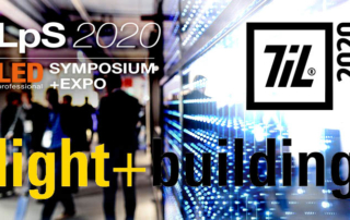 Header image for luximprint blogpost on major 2020 lighting events postponements