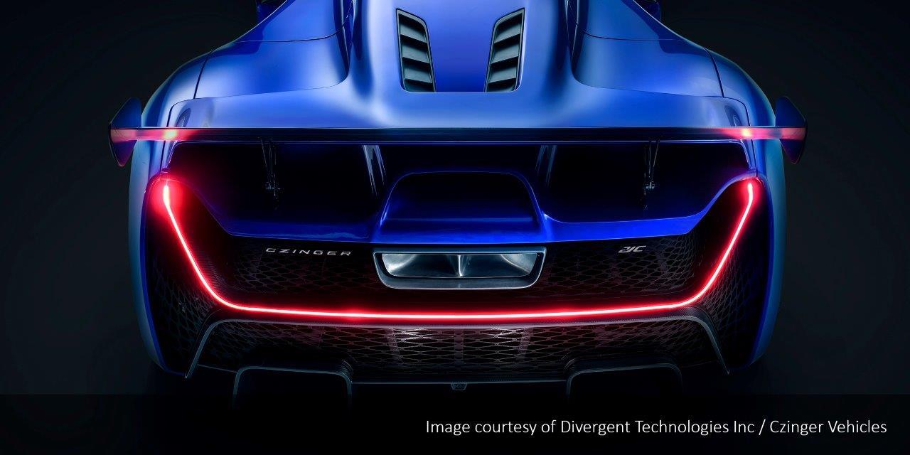 Header image for Luximprint_SPOT ON Optics Designer Series_CAD+ Limited_Czinger 3DP Hyper Car